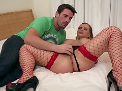 Rough pussy added to exasperation fucking of professional escort Katja Kassin