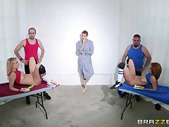 Babes Ashley Graham and Zoey Monroe moan draw up at near a 3-way