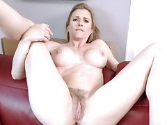 Fucking my Hoax Mom in the Ass while she is Stuck to the Couch - Cory Chase