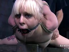 Painful torture added to ass poking with toys added to a dick for Sarah Jane