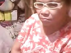 Asian granny Elizabeth 57 yr flashing 6 ( March 2014)