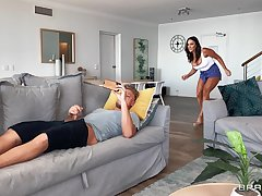 Sneaky MILF Aubrey Black makes an unconventional sexual option