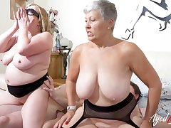 AgedLovE Busty British Matures Hard Group Dealings