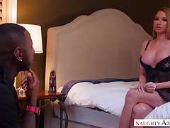 Wife's hot friend seduces with huge affectation boobs together with juicy ass