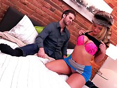 Juicy fair-haired Jemma Valentine is every man's enthusiasm come true