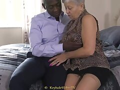 Huge Titty Grandma With A Cock-Squeezing Labia