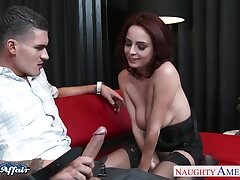 Bent over alluring busty MILF Ashley Graha unexcelled enjoys hardcore doggy