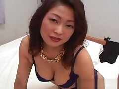 Busty japanese girl in unmentionables sucking part1
