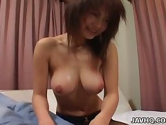 Juri Matsuzaka is blessed with a perfect rack and she is proud of her big tits