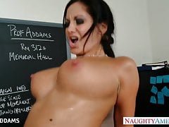 Teacher in glasses Ava Addams gets big tits fucked