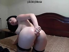 Merely angel enjoys anal masturbation with toys