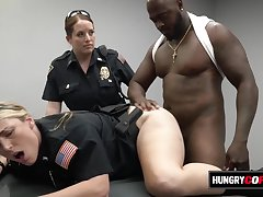 Bellyache female cops get hot on the job
