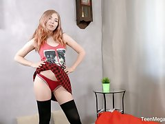 Licentious sophomore student Li In is having sex fun with new plaything