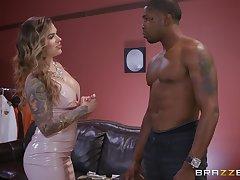 dark guy destroys wet Karmen Karma's pussy with his monster dick