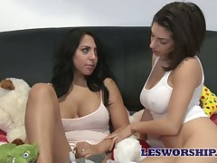 Amazing Darcie Dolce is happy to denigration and to fingerfuck wet pussy