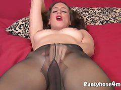 Housewife Babe Goes Solo Atop Themselves - lasting sex