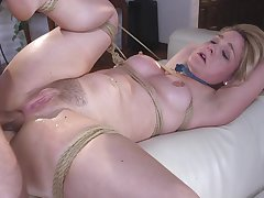 Obedient milf hindquarters fucked in brutal modes while naked coupled with slutty