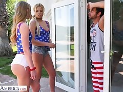 Sexy blonde Daisy Stone is one patriotic infant who loves FFM threesomes