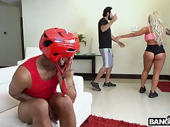 Copulation berserk acme notch PAWG Brandi Bae has a young glowering man all about to herself