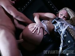 Naughty chick AJ Applegate is tied up plus punished by hot blooded clothes-horse