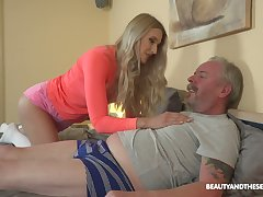 Young blond nympho Diane Chrystall is eager for old wrinkled dick be advisable for her new lover