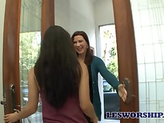 Enchanting MILF Katerine Moss enjoying some steamy lesbian encounter