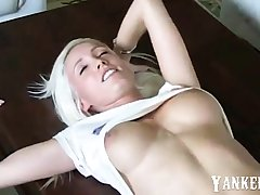 stunning hot german blond clumsy homemade creampie