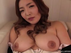Curvy Japanese bush-leaguer Koino Botan pleasures will not hear of horny love tube