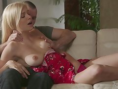 Sweet blonde loves slay rub elbows with devoted cock show in her pussy so splendid