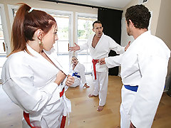 Ashley Red & Luna Light in Swapping Martial Arts Bombshell - DaughterSwap
