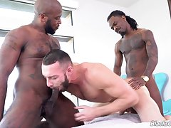 Black studs share this pal and fuck his ass merciless