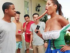 Hardest Oktoberfest group making love for toper wife