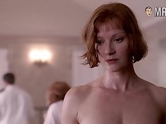 Smiling and blue Gretchen Mol has juicy chunky bowels and hard nipples